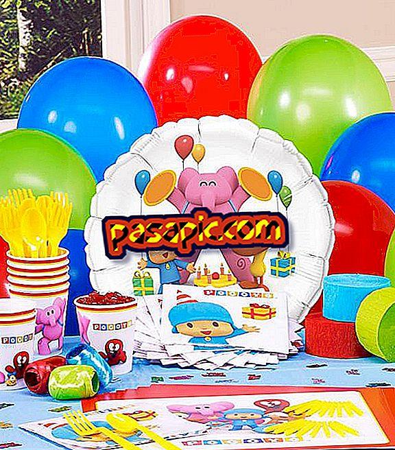 Bagaimana untuk membuat pesta Pocoyo