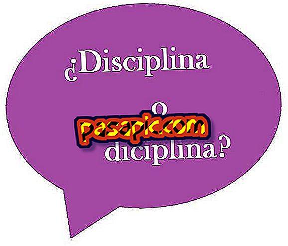 Come scrivere disciplina o disciplina