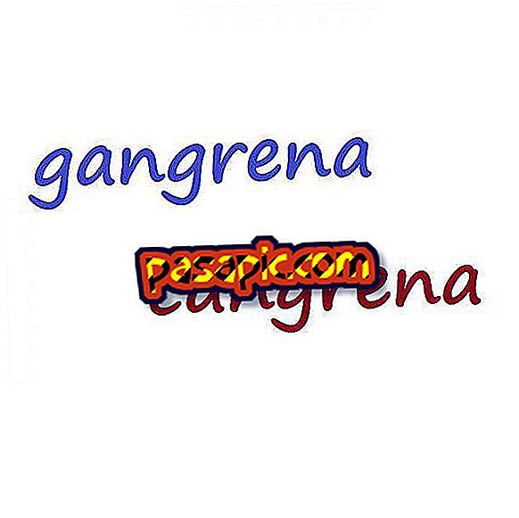 How do you say γάγγραινα ή cangrena