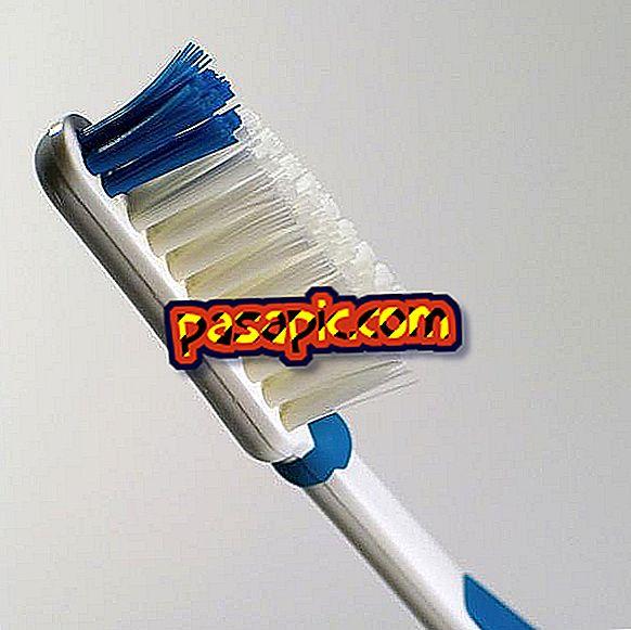 Instruktioner til børstning af tænder