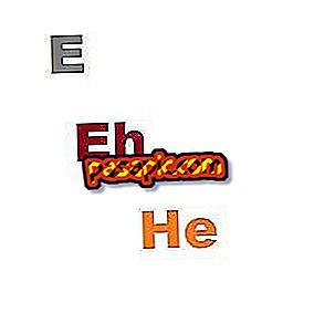 Làm thế nào để bạn đánh vần E, eh hoặc anh ấy