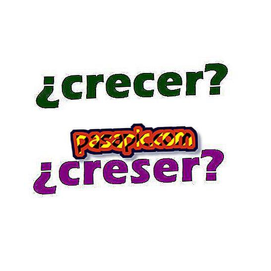 Hvordan skriver du vokse eller creser