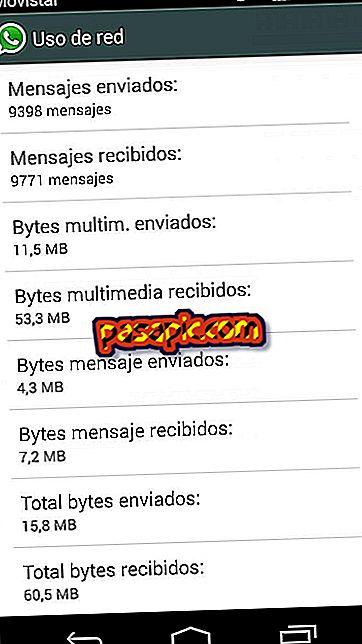 Bagaimana untuk mengetahui megabait yang digunakan oleh WhatsApp