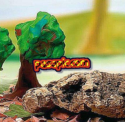 كيفية جعل الغابات مع البلاستيسين