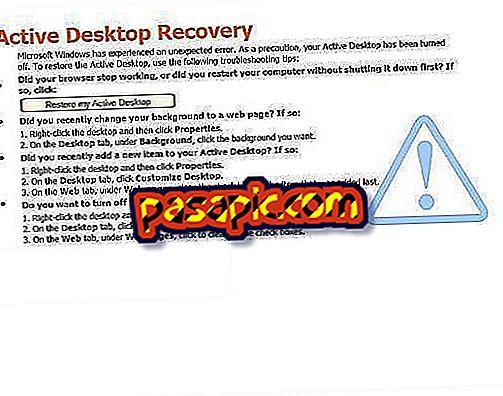 Come interrompere il recupero di Active Desktop - computer